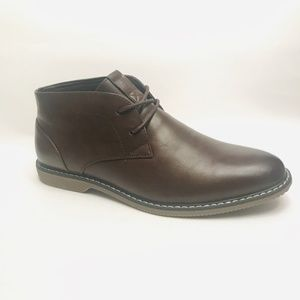 London Fog Men's Chukka Brown Boots Sz 10